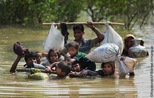 emergency aid for the fleeing rohingya